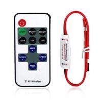 Wholesale 1set Single Color Remote Control Dimmer DC V keys Mini Wireless RF LED Controller for led Strip light SMD