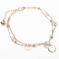 Wholesale 1Pc Sexy Beach Anklets Crystal Pendant Rhinestone Rose Tassel Ankle Bracelet Foot Chain Jewelry Hot Selling
