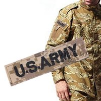 Wholesale Velcroes Camouflage USA Army Font Pattern Velcro Badge Armband Top Quality NO Wholesales Factory Price Fashion