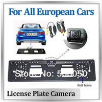 Wholesale EU European WIRELESS Car License Plate Frame Rear View Rearview Camera Degree EU WIRELESS Car License Plate Frame Size