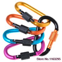 d-ring - 5x Aluminum Carabiner D Ring Key Chain Clip Snap Hook Karabiner Camping Keyring Hot New
