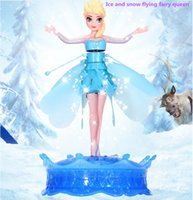 Wholesale Frozen induction suspended aircraft will be flying fairies with exquisite lighting and music Snow Queen Art