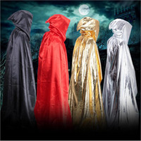 Wholesale 30 BBA4275 adults Carnival halloween death cloak hoodie cape devil Wizard Cloak Devil Long Tippet sorcerer cape Anime Cosplay Clothes