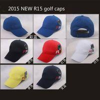 Wholesale 2015 New TM R15 golf hats R15 golf caps mix colors order