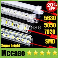 Wholesale 20 OFF SMD LED Bar Light DC12V cm led m Meter Hard Rigid Strip Light U or V Style Shell Cool Warm Pure white CE ROHS