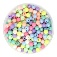 plastic beads - 500g mm mm mm mm mm Round Mixed Spring Colors Acrylic Plastic Spacer Loose Beads DIY Jewelry Beads For Necklace Bracelet