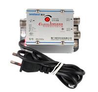 tv signal amplifier - TV CATV Antenna Broadband Signal Amplifier AMP Booster Cable TV signal amplifier
