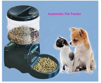 dry dog food - Automatic Pet Feeder Dog Cat Timed Food Dispenser Large L pet dog Bowl Dry Food