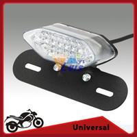 amber cafe - Cafe Racer Motorcycle LED Brake Tail Light Turn Signals Lamp Integrated with License Plate Bracket V Amber Red light order lt no track