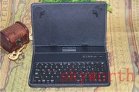 Cheap Universal Bluetooth Keyboard Leather Case cover Stand for 7 inch Android 4.4 Allwinner tablet Q88 A33 Galaxy tab 3 4 S 7.0 P3200 T230 T700