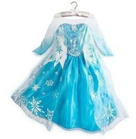 TuTu Summer A-Line Girls Dresses Frozen long sleeves Fall dress 2014 girl party dress anna princess costume baby girls elsa dress snow frozen dress