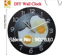 Wholesale listed in stock cm in Modern Fired Egg Wall Clock for Room Decor