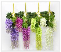 Wholesale Upscale Simulation Flower Artificial silk flower Wisteria Vine for Wedding Decoration Home Party Ornament with High Quality