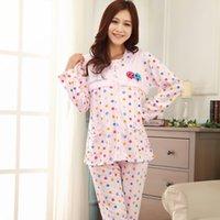 Wholesale Breastfeeding Clothes Autumn Month Postpartum Lactation Clothes Pregnant Women Wear Cotton Pajamas Long Sleeved Suit