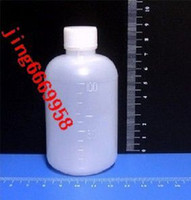 agent personal - 100 ml bottle agent PE plastic bottle preparation bottle with scale small mouth bottle points bottling