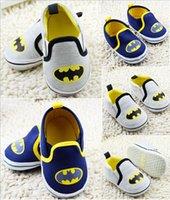 Wholesale 2016 Batman baby shoes kids shoes soft toddler Casual shoes gray blue unisex walking floor shoes sports shoes pairs C