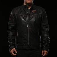 Wholesale new arrival Affliction leather jackets sports jacket Indian Head embroidery american customs Genuine Leather motorcycle leather jackets