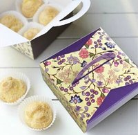 Wholesale DIY New Sets OF Elegant Purple Macaron Cupcake Cardboard Boxes Gift Package Container Paper Assorted order lt no tracking