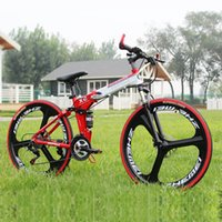 Wholesale New style speed bikes inch bikes fender car lamp and so on mountain bike full suspension bike with folding frame