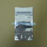 aluminum foils - 7 cm quot Aluminum Foil Clear Resealable Valve Zipper Plastic Retail Packaging Pack Bag Zip Lock Ziplock Bag Retail Package