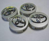 Wholesale 4Pcs New mm Toyota Corolla Car Wheel Center Hub Caps Emblem Wheel Badge Covers