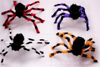 craft candle - 2016 halloween colour plush steel spiders balck spider halloween mask craft gift Decorations Festive Party Supplies