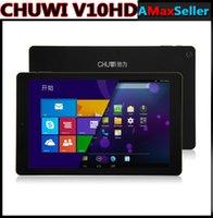 Wholesale CHUWI V10HD G WCDMA Tablet PC Dual Boot Intel Z3735F Quad Core ROM GB RAM GB quot x FHD Android Windows OTG GPS
