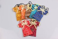 For Apple iPhone apple shape clothing - Shipping free hot sale low price phone pouch with neck lanyard the mini clothing shape multicolor the brocade material