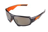 Wholesale 015 promotion factory price black and orange Climbing Sunglasses Polarized Revo red Lens UV400 Wayfarer glasses