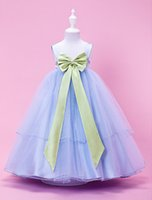 ball stretching pictures - A line Princess Ball Gown Tea length Flower Girl Dress Tulle Stretch Satin Sleeveless Halloween Easter Birthday Christmas Clothes