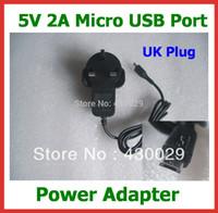 Wholesale V A Micro USB Charger UK Power Adapter for Tablet PC Cube U55GT U65GT Talk X U27GT Wifi G Vido M1 Mini Pad PiPo U8
