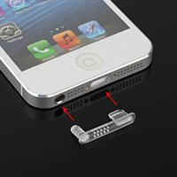 Wholesale 200pcs in earphone jack plug Anti dust Dock charge port plug dust cap for iphone5 th