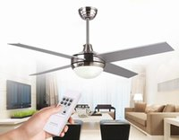 Wholesale Modern Unique Ceiling fan lights fan with Remote Control Elegant Rustic Chandelier Leaf Fan Light lamp for living room Dining room droplight