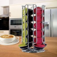 Wholesale 12 A Coffee Pod Holder Rotating Revolving Rack Tower Capsule Stand For Dolce Gusto