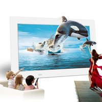 1080p mp4 player - 10 inch HD TFT LCD P Digital Photo Picture Frame Alarm Clock MP3 MP4 Supoort Video Player with Remote Desktop