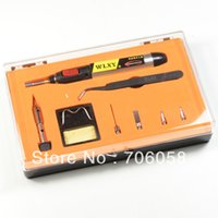 Wholesale Set Aerated Butane Gas Soldering Iron Flame Torch Tool Tips Iron Stand