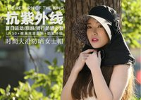 bask hats - Summer sun hat uv protection caps outdoors to protect the neck cover cap is prevented bask in large along the female face