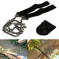 Wholesale Black Chain Saw ChainSaw For Camping Kit Garden Hand Tool Pocket Gear order lt no track