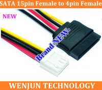 Wholesale Drop Shipping NEW arrived SATA pin Female to pin Female ITX SATA power coble FLOPPY disk FLOPPY SATA power cord order lt no track