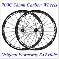 bicycles east - Powerway R39 Hubs Carbon Wheels C mm East Full Carbon Bike Bicycle Wheelset K Weave Matt Finish Black Decals Wheel Wheels