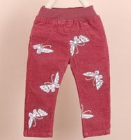Wholesale 2014 Hot Girls Butterflies Printed Jeans Kids Pants Girls Tights Skinny Leggings Casual Legging Kids Shorts Girls Clothing cm E0885