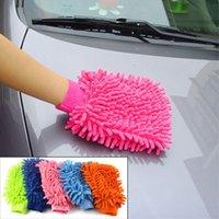 Wholesale Super Durable Mitt Microfiber Car Wash Washing Cleaning Glove