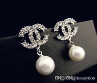 Wholesale European and American high end fashion jewelry pearl earrings hypoallergenic diamond earrings