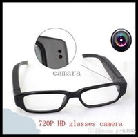 Cheap HD 720P Camcorder mini DVR Camera Eyewear Clear Glasses Video Recorder 1280*720 Hidden Spy Camera Digital Video Camcorder Free shipping TNT