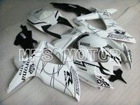 Wholesale For Suzuki GSX R GSXR600 ABS Fairing Injection Bodywork Kit White