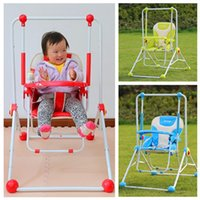 Wholesale Hot selling European Style High grade Baby Swing Three Color Outdoor Multi purpose Foldable Dining Chair Children Hanging Chair