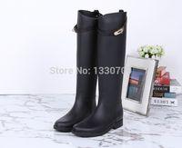 Wholesale New Arrival high style fashion rain boots waterproof women wellies boots branded luxure rain boot kelly belt rain boot