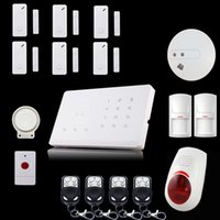 Wholesale DHL Free Wolf Guard M2G Android APP Control RFID Touch Keypad smart gsm SMS home security alarm system with alarm control keypad