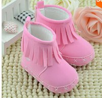 Wholesale 2015 New Arrival Colors Tassel Cute Baby Girl Indoor Comfortable Soft Sole Shoes Infant Cotton Toddler Shoes Kid First Walkers Snow Boot