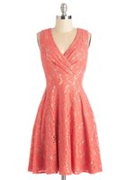band lilacs - 2016 Labyrinthine Coral Lace Dress Cheap Real Photos A line Homecoming Dresses Cocktail Skirt Straps Knee Length V neck Band High Back